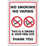 No Smoking No Vaping This Is a Smoke & Vape Free Site Thank You
