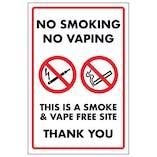 No Smoking No Vaping This Is a Smoke & Vape Free Site Thank You