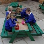 Nursery Picnic Table with Sandbox