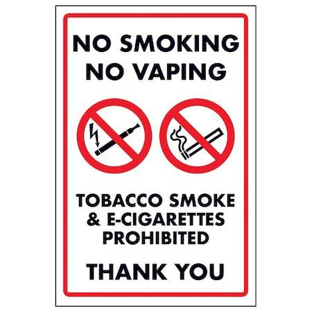 No Smoking No Vaping Tobacco Smoke & E-Cigarettes Prohib...
