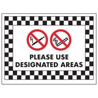 No Smoking or Vaping, Please Use Designated Areas