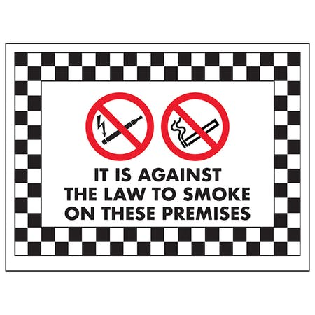 It Is Against the Law To Smoke On These Premises