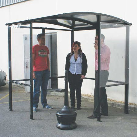 Corfe 4-Sided Smoking Shelter - Aluminium Roof