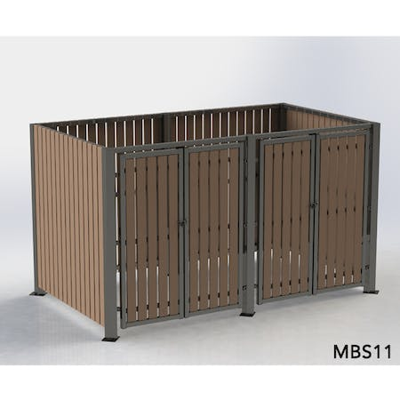 Multipurpose Storage Shelter - Recycled Plastic Cladding - Without Roof