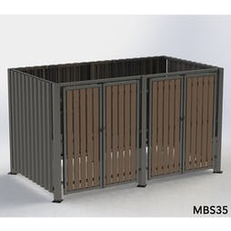 Multipurpose Storage Shelter - Corrugated Metal - Without Roof
