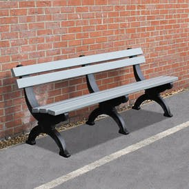 Deluxe Park Bench With Back