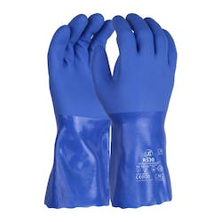 UCI R530 Triple Dipped Blue PVC Gauntlet