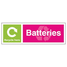 Batteries Recycle Here - Landscape