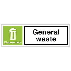 General Waste Dispose Here - Landscape