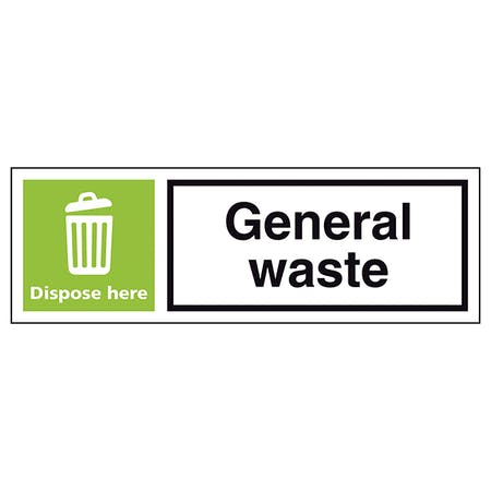 General Waste Dispose Here - Landscape