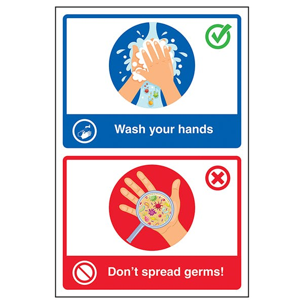 Wash Your Hands / Don't Spread Germs! Poster