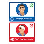 Wear Eye Protection / Don't Risk Your Safety! Poster