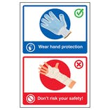 Wear Hand Protection / Don't Risk Your Safety! Poster