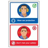 Wear Ear Protection / Don't Risk Your Safety! Poster