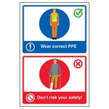 Wear Correct PPE / Don't Risk Your Safety! Poster