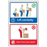 Lift Correctly / Don't Hurt Your Back! Posters