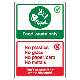 Food Waste Only / Don't Contaminate Waste...Poster
