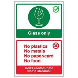 Glass Only / Don't Contaminate Waste Streams! Poster
