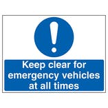 Emergency Vehicle Traffic Signs