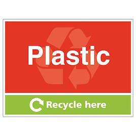 Plastic Recycle Here