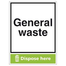 General Waste Dispose Here - Portrait