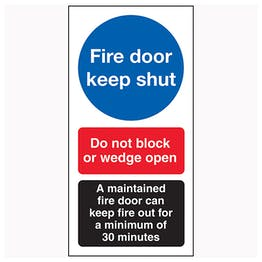 Fire Door Keep Shut / Do Not Block / A Maintained Door