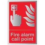 Aluminium Effect Fire Equipment Signs