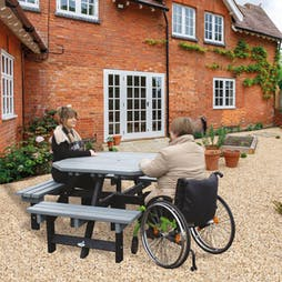 Wheelchair Access Picnic Table - Octagonal