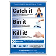Catch It / Bin It / Kill It! Poster