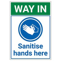 Hand Sanitising Point Signs