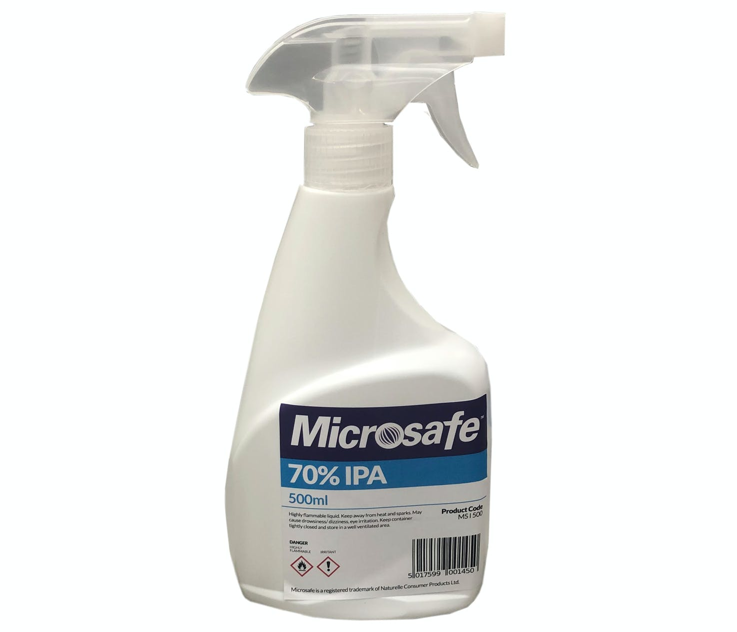 Microsafe 70% IPA 500ml Surface Spray