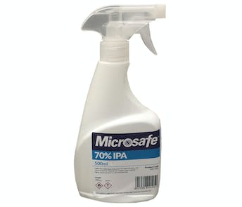 Microsafe 70% Isopropyl Alcohol 500ml Surface Spray