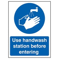 Use Handwash Station Before Entering