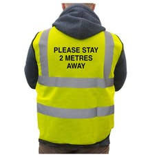 Hi-Vis Vest Please Stay 2 Metres Away