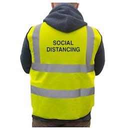 Hi-Vis Vest Social Distancing