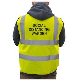 Hi-Vis Vest Social Distancing Warden