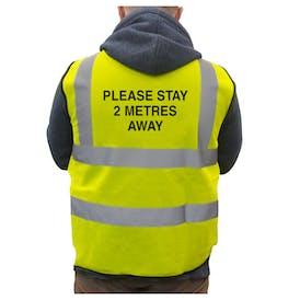 Hi-Vis Vest Please Stay 2 Metres Away