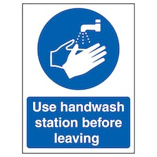 Use Handwash Station Before Leaving