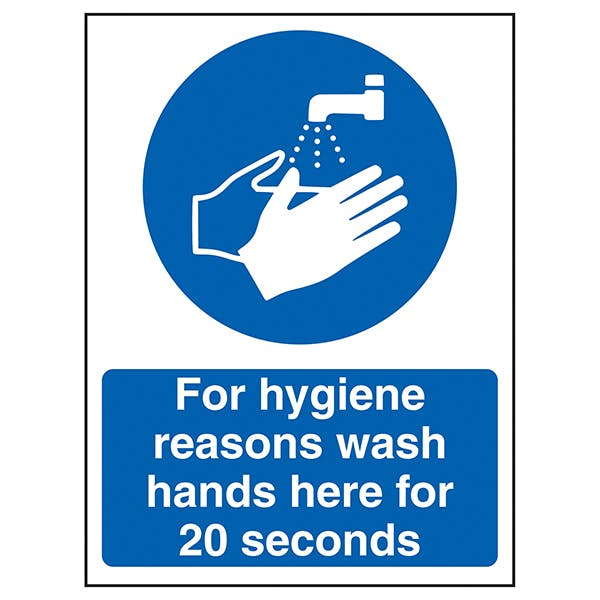 For Hygiene Reasons Wash Hands For 20 Seconds