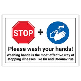 STOP/Please Wash Your Hands