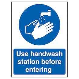 Use Handwash Station Before Entering