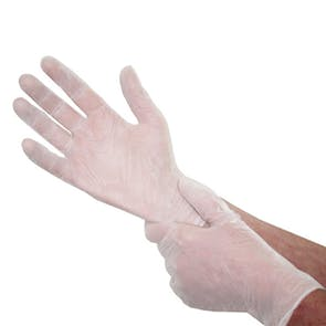 Medical Grade Vinyl Gloves - Box Of 100