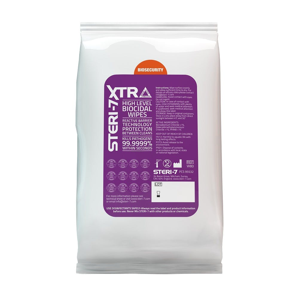 STERI-7 XTRA Alcohol Free Disinfectant Wipes