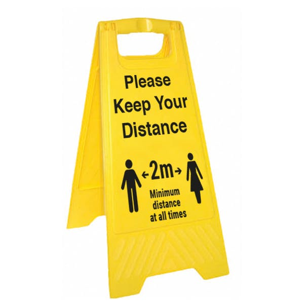 Please Keep Your Distance Floor Stand