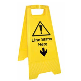Line Starts Here Floor Stand