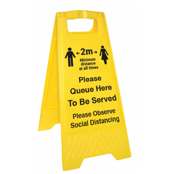 Please Queue Here Floor Stand