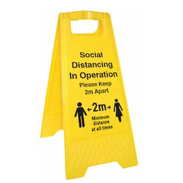 Social Distancing In Operation Floor Stand