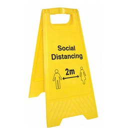 Social Distancing Floor Stand