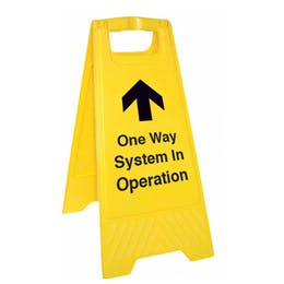 One Way System In Operation Floor Stand