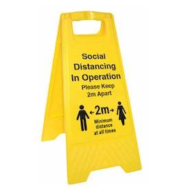 Social Distancing Floor Stands